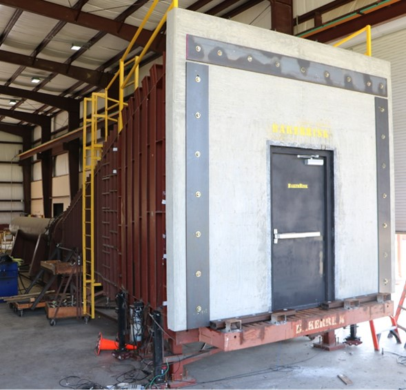 Wall Panel with Door in Test Frame