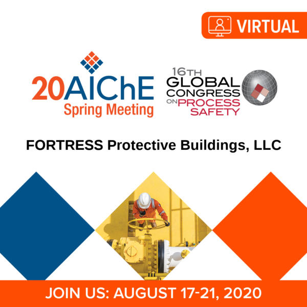 banner for FORTRESS Protective Buildings landing page on AIChE