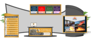 FORTRESS virtual GCPS exhibit booth 2020