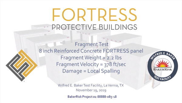 Concrete FORTRESS Panel 2.2 lbs Test #3-HD Front
