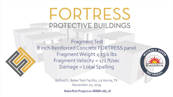 Concrete FORTRESS Panel 13 lbs Test #5-HD Front