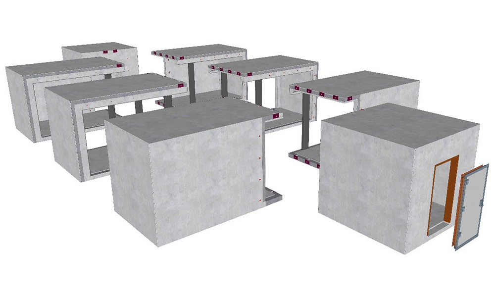 Built with three precast concrete modules - the possibilities are endless.