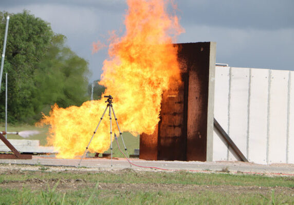 Full-scale Impinged Jet Fire Testing